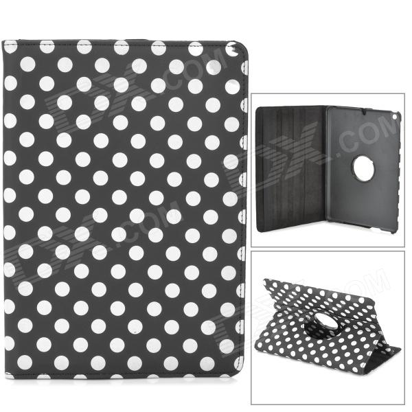 Stylish Polka Dot Pattern 360' Rotating Back Protective PC + PU Case w/ Holder for Ipad AIR / 5 for apple ipad mini 4 360 hand rotating case pc silicon stand flip cover wake up sleep with stylus black white rose alabasta