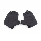 QEPAE F035 Outdoor Sports Bicycle Anti-Slip Breathable Half-Finger Gloves - Black (XL / Pair)