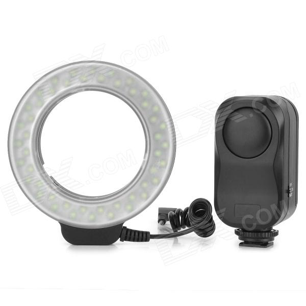 WanSen W48 4W 480lm 48-LED Makro Macro Ring Lighting Flash for Canon / Nikon wansen w48 4w 480lm 48 led makro macro ring lighting flash for canon nikon