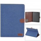 Case Denim textura de cuero PU-tapa abierta con estilo w / Holder + Sleep Auto para Ipad AIR 5 - Royal Blue