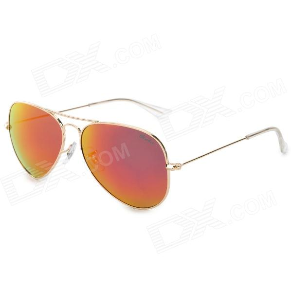 OREKA 3025 Stylish Men's UV400 Protection Polarized Aviator Sunglasses - Golden