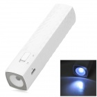 T819 Stylish Universal Compact 2800mAh Rechargeable Li-ion Power Bank Tube w/ LED Torch - White