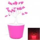 25W 250lm 3000K Luminous Wishing Heart Shape Tree Warm White Light Table Lamp - Pink + White (230V)
