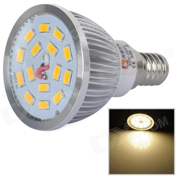 LeXing 6W E14 15-SMD 5630 LED Warm White Light Spotlight (AC 85~265V) lexing lx qp 20 e14 6w 470lm 3500k 15 5730 smd led warm white light dimmable lamp ac 220 240v