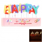Happy Birthday Letter Party Cake Candle - Multicolored
