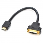 24K Gold Plating HDMI Male to DVI 24+5 Female Adapter Cable