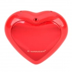 E-warmer F6002 Stainless Steel Heart Shaped Double-side Heating Hand Warmer / Power Bank - Red