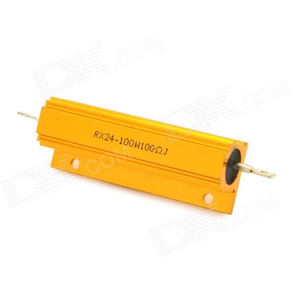 ZnDiy-BRY 100W100RJ Aluminum Alloy Resistor - Golden dia 400mm 900w 120v 3m ntc 100k round tank silicone heater huge 3d printer build plate heated bed electric heating plate element