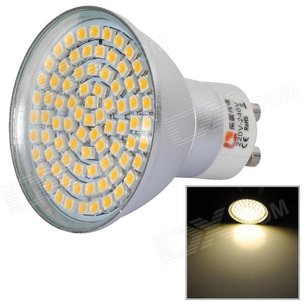 LeXing 4W 300lm GU10 80-SMD 3528 Warm White Light Spotlight (220~240V)