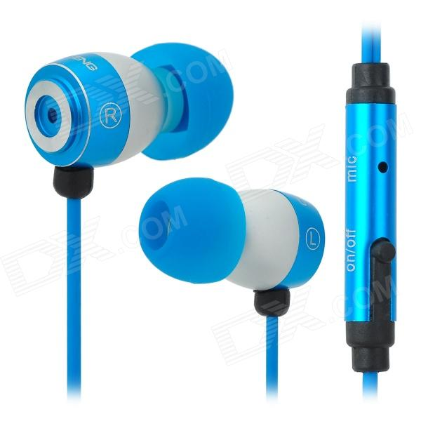 OVLENG iP660 In-Ear Earphone w/ Microphone / Cable Control - Light Blue