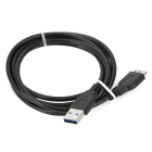 USB 3.0 to Micro USB 9-Pin Cable for Samsung Note 3 / Mobile HDD - Black (1.5m)
