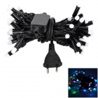 YP-435 Decorative 7.5W 45lm 50-LED RGB Light String - Black (EU Plug)