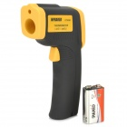 "DT-8380 1.3"" Screen Handheld Infrared Thermometer - Black + Orange + Multi-Colored"