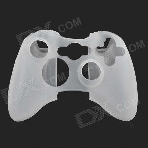 3-in-1 Protective Silicone Case for XBOX 360 / XBOX 360 Slim Controller - White protective silicone cover case for xbox 360 controller yellow blue