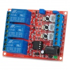 High / Low Level Trigger 3-CH 12V Self-locking Switch Relay Module w/ Optocoupler