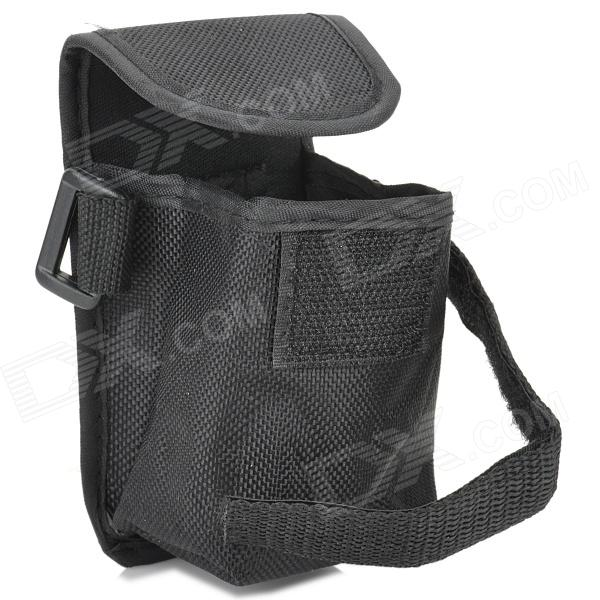 Convenient Storage / Organizer / Carrier Nylon Bag for 18650 / 26650 Battery - Black