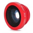 Universal Lens Clip w/ 180' Fisheye Lens for Cellphone - Red