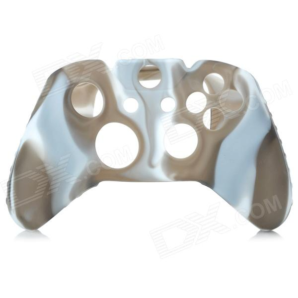 Protective Silicone Case for Xbox One Controller - White + Coffee protective silicone case for xbox one controller camouflage green