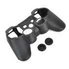 3-in-1 Protective Silicone Case for PS3 / PS3 Slim Controller - Black