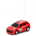 Mini ABS 4-CH 1:48 R/C Offroad Car w/ Remote Control - Red + Multicolored (2 x AA)