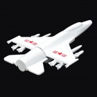 Aircraft Shaped Zinc Alloy USB 2.0 Flash Drive - White (32GB)