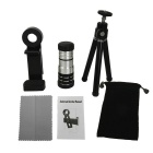 Universal 12X Zoom Lens & Tripod Set for Cell Phones / Pads - Silver