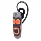 Ounuo Monkey Pattern Bluetooth V3.0 Earbud Headset w/ Mic for Iphone 4 / 4s / 5 - Black + Grey