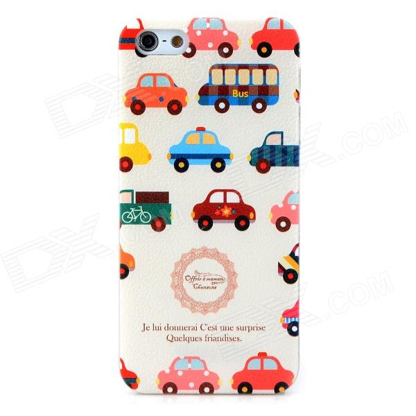HOTSION i5-T13 Cartoon Car Pattern Protective PC Back Case for Iphone 5 / Iphone 5S - White + Red elegance tpu pc hybrid back case with kickstand for iphone 7 plus 5 5 inch red