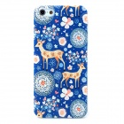 HOTSION i5-T15 Little Deer Style Protective PC Back Case for Iphone 5 / 5s - Blue