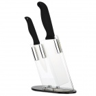 "TIMHOME KITCHENWARE U 4"" + 6"" Zirconia Ceramic Knife Set - Black + White"