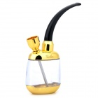 Stylish Metal + Resin Cigarette / Tobacco Filtering Water Pipe - Black + Golden