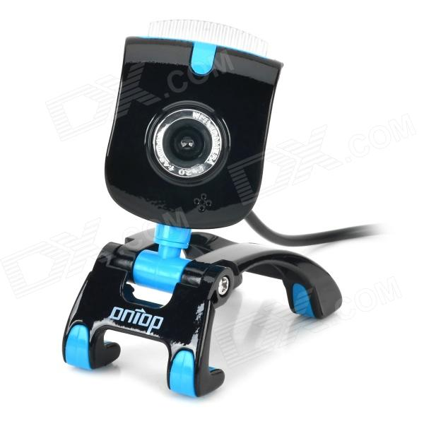 D53+  USB 2.0 Wired 8.0MP Webcam w/ Microphone for Laptops / Desktops - Black + Light Blue