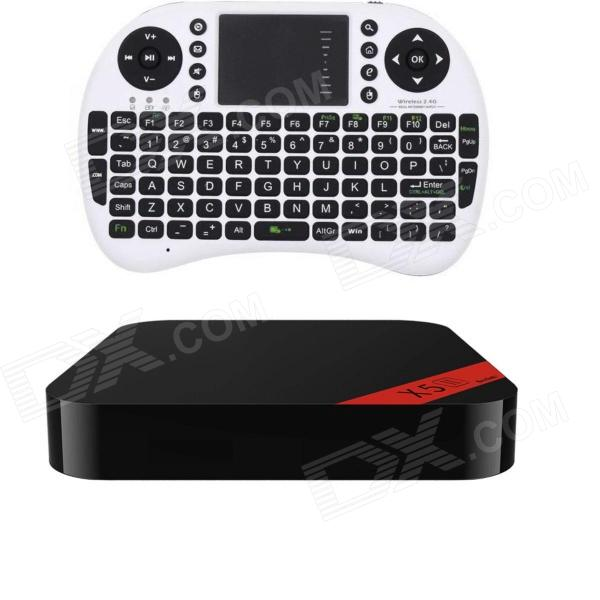Ourspop New XII+i8 Air Mouse Quad-Core Android 4.2.2 Google TV Player w/ 2GB RAM / 8GB ROM EU Plug ourspop u73 quad core android 4 2 2 google tv player w 2gb ram 8gb rom f10 pro air mouse black