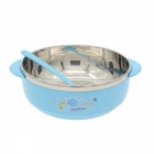 Buy Stainless Steel Liner Heat Insulation Bowl - Blue + Silver (300mL)