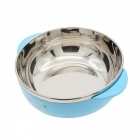 Stainless Steel Liner Heat Insulation Bowl - Blue + Silver (300mL)
