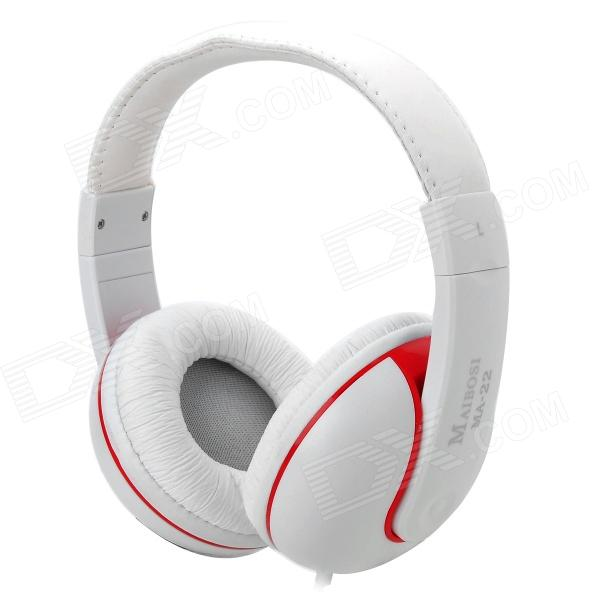 MaiBoSi MA-22 Hi-Fi Bass Headphones w/ Microphone for Iphone / Samsung / HTC / Xiaomi - White + Red аксессуар чехол htc u ultra brosco black htc uu book black