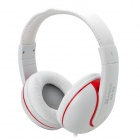 MaiBoSi MA-22 Hi-Fi Bass Headphones w/ Microphone for Iphone / Samsung / HTC / Xiaomi - White + Red