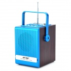 "Sast T-83E 5W 1.5"" Screen 80Hz~18KHz Handheld Speaker w/ TF / Mini USB / 3.5mm / FM - Brown + Blu"