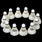 Sports Duck Feather Badminton Shuttlecocks - White (12 PCS)