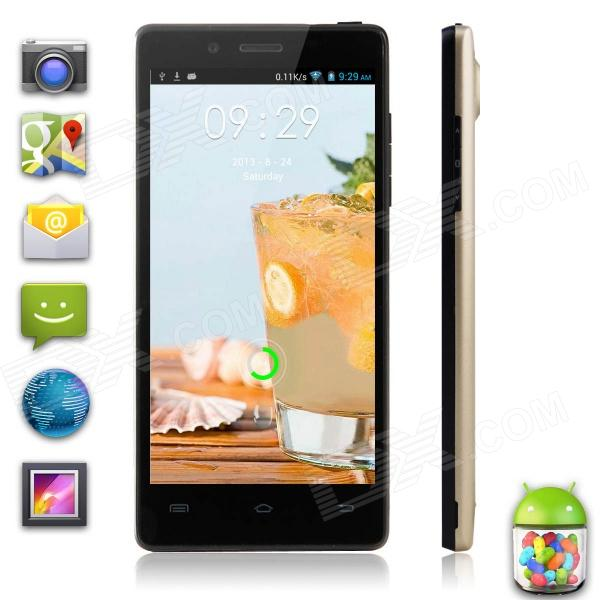 "XiaoCai X 9 MTK6582 firekjerners Android 4,2 WCDMA telefon med 4,5"" OGS, 1GB RAM, 4GB ROM - Champagne Gullet"