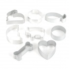 E3CM 8-in-1 Cake Cutter Ring Mold - Silver