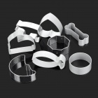 8-in-1 Cake Cutter Ring Mold - Silver