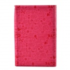 "Faerie Pattern Protective PU Leather Case Cover Stand for 7"" Tablet PC - Deep Pink"