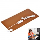 Maidalin F492 AC Power Constant Current Warmer Heating PU Leather Pad - Black + Brown (54cm x 17cm)