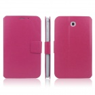ENKAY ENK-7030 Protective Leather Case for Samsung Galaxy Tab 3 7.0 T210 / T211 / P3200 - Deep Pink