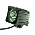 ZHISHUNJIA 3-LED 2000lm White 3-Mode White Bicycle Light w/ Taillight - Black
