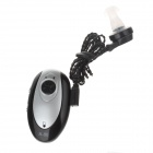 A-80 Rechargeable Lithium Battery Cassette Old People In Ear Hearing Aids  - Black + Silver