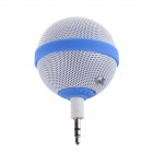 Roundness Style Portable Speaker for Iphone / Samsung / HTC / Motorola / Nokia - White + Blue