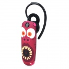 Ounuo Dinosaur Pattern Bluetooth V3.0 Earbud Headset w/ Mic for Iphone 4 / 4s / 5 - Purplish Red