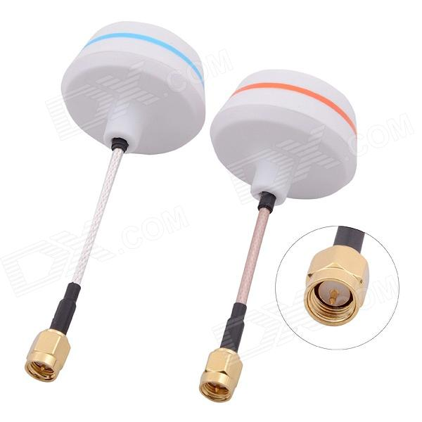 5.8G SMA Male Antenna Gains FPV Aerial Photo RC Airplane - White (Pair) b593 4ghz lte sma router antenna white